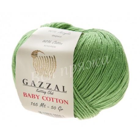 BABY COTTON Gazzal 3448 (Зеленое яблоко)