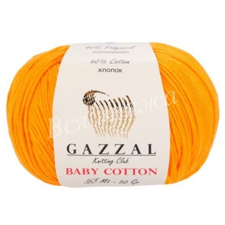 BABY COTTON Gazzal 3416 (Тыква)